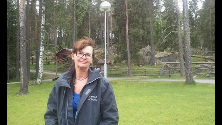 Irene Sjögren är vd för Lycksele Djurpark. Foto:Gerhard Stenlund/SR.