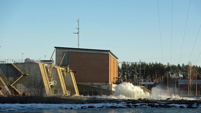 Hällforsens kraftstation i Umeälven