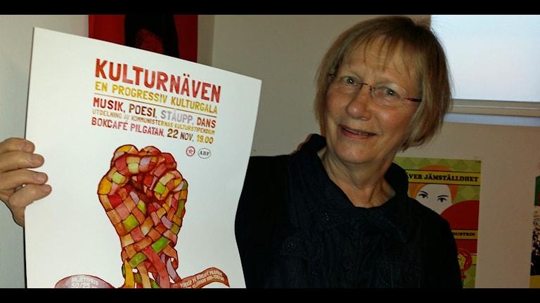 Hervor Björne är med och arrangerar Kultnäven en progressiv gala i Umeå. Foto Kristina Milton/SR.
