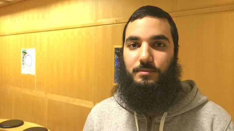Mohannad Hammoud, Islamiska Föreningen i Västerbotten. Foto: Åsa Sundman/Sveriges Radio.