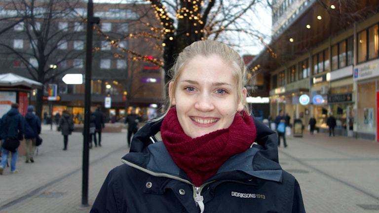 Karatetjejen Linda Andersson från Skellefteå. Foto: Magnus Bergner/Sveriges Radio