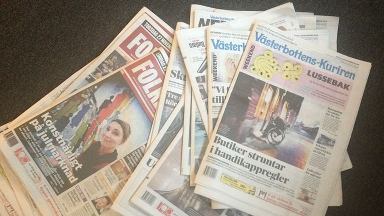 Ingen tidning på lördagar efter årsskiftet Foto: Filippa Armstrong
