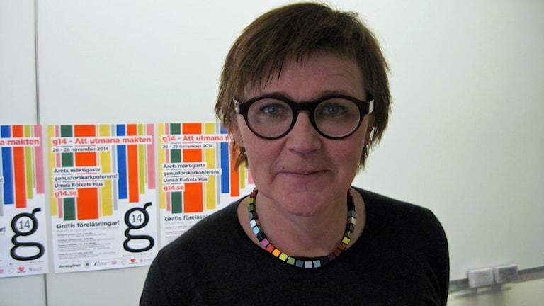 Kerstin Alnebratt, föreståndare Nationella sekretariatet för genusforskning. Foto: Agneta Johansson/Sveriges Radio