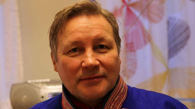 Ole-Isak Mienna, ny chef för SR och SVT:s gemensamma samiska redaktion.