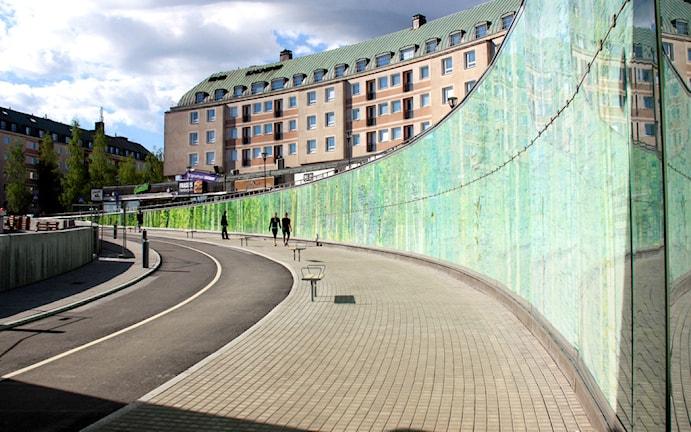 Passagen i Umeå inspirerad av Sara Lidmans tankegångar Foto: Cecilia Ek