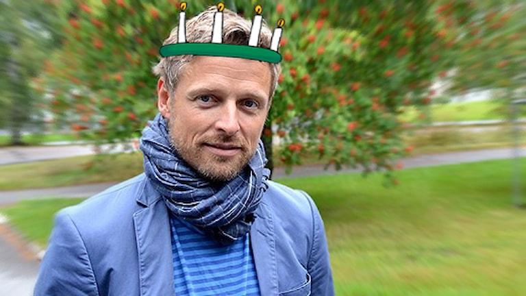 Per Höglund var själv lucia under studenttiden. Foto: Jonna Spiik/Sveriges Radio