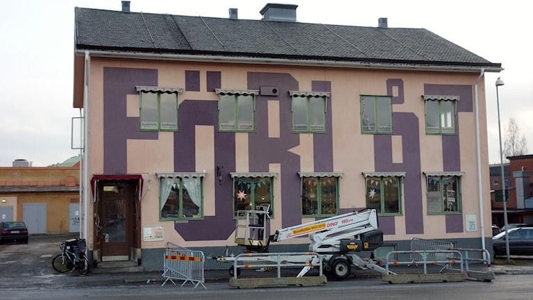 Konst på husfasad i Skellefteå