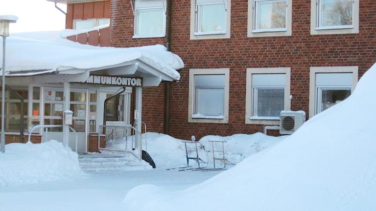 Kommunhuset i Bjurholm, Foto: Tommy Engman/Sveriges Radio.