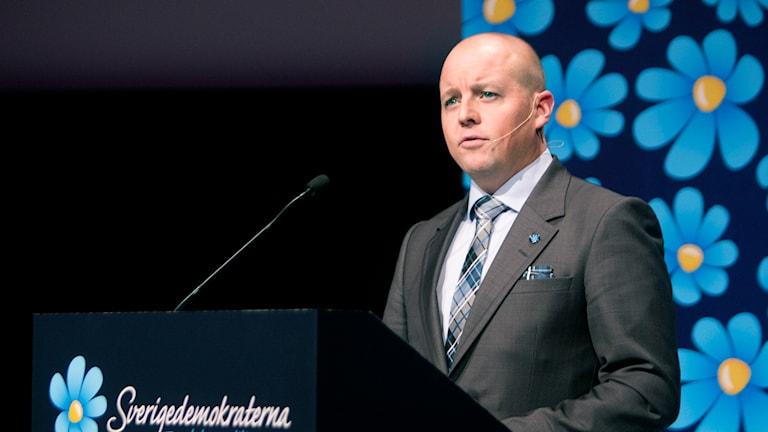 Björn Söder, partisekreterare (SD). Foto: Per Groth/TT