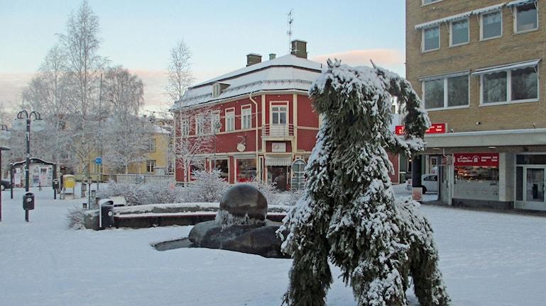 Julbocken på torget