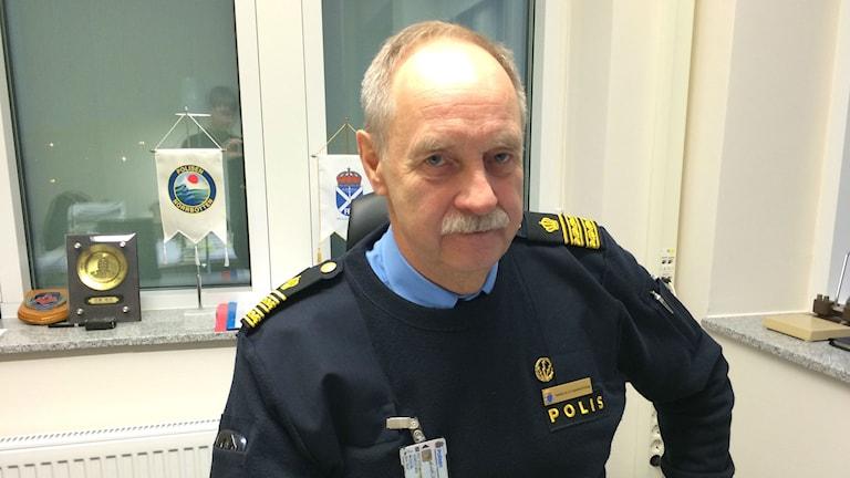 Hans-Olov Markström blir ny chef för polisens stora ledningscentral i Umeå. Foto: Olov Antonsson/Sveriges Radio