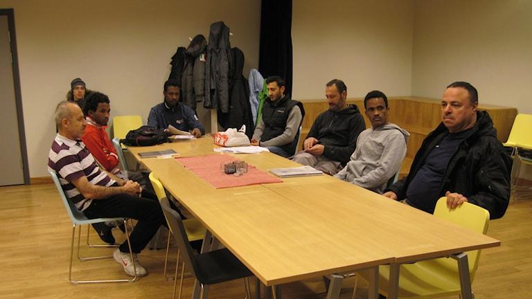 Asylsökande lär sig svenska. Foto: Agneta Johansson Sveriges Radio