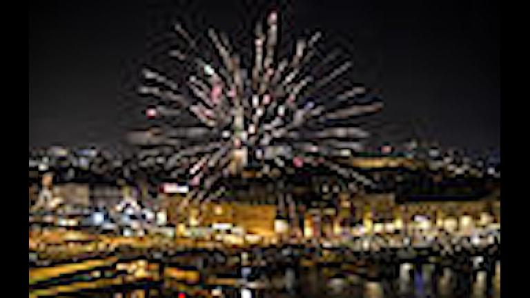 Nyårsfirande i Stockholm Foto TT Nyårsbyrån