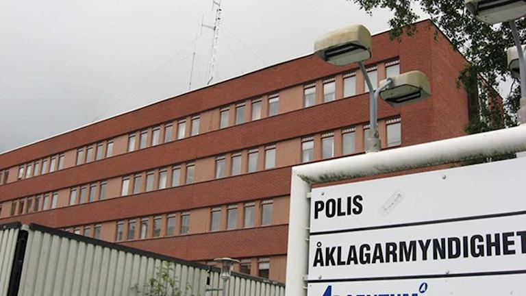 Polishuset i Skellefteå. Foto: Åza Meijer/SR