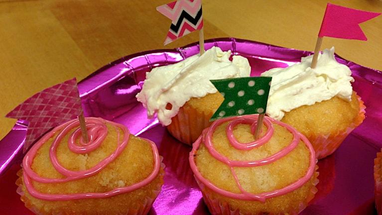 Muffins dekorerade och klara