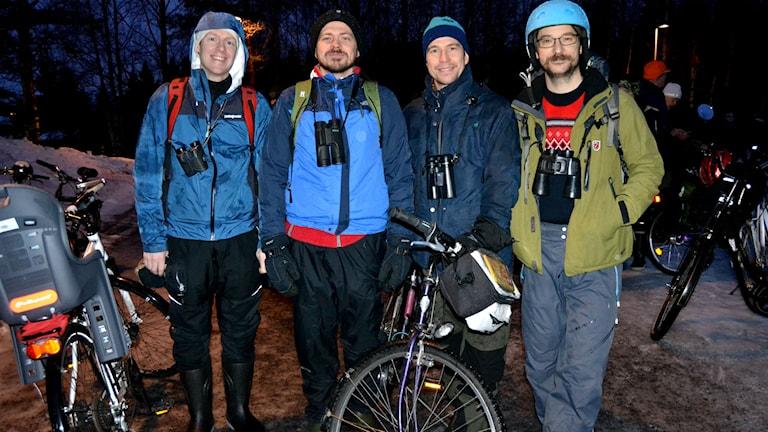 Jon Andersson, i mitten, med sina lagkamrater. Foto: Marilén Karlsson