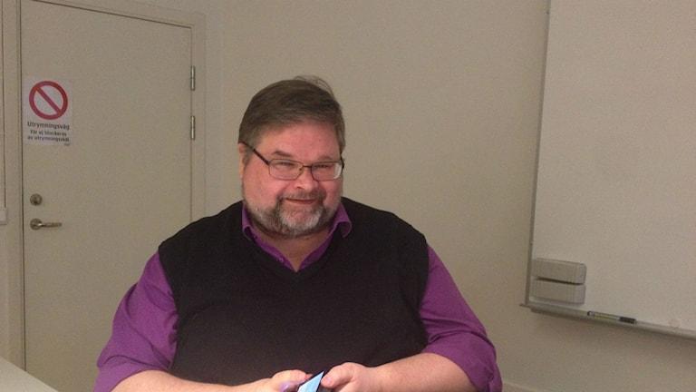 Kjell Rautio, välfärdsutredare på LO. Foto Filippa Armstrong/SR.