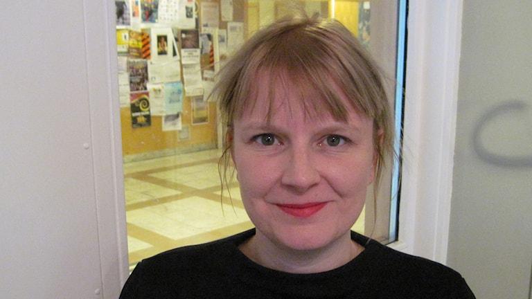 Ulrika Edman, gruppledare Vänsterpartiet i Umeå. Foto: Agneta Johansson/SR