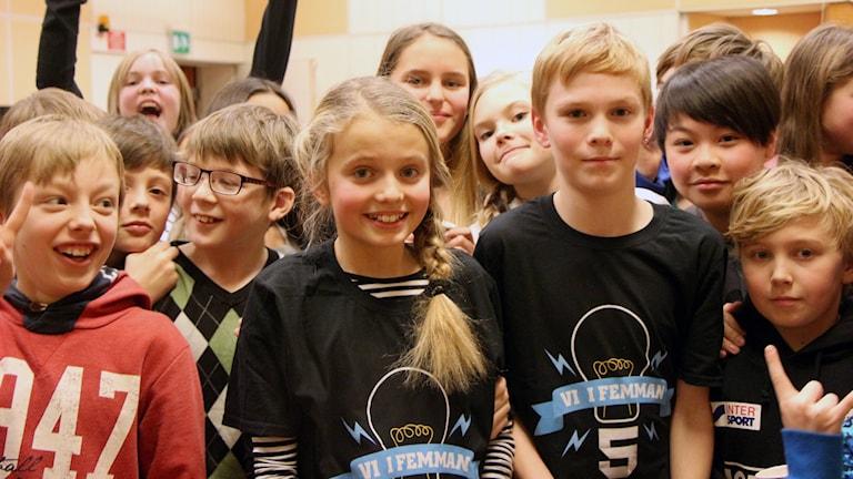 Böleängsskolan 5A. Foto: Helena Ramfjord/Sveriges Radio