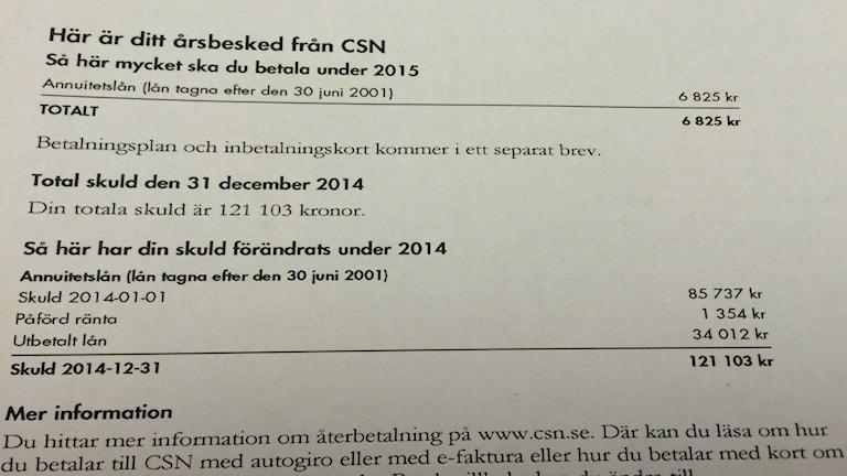 Studieskuld CSN. Foto SR Västerbotten.