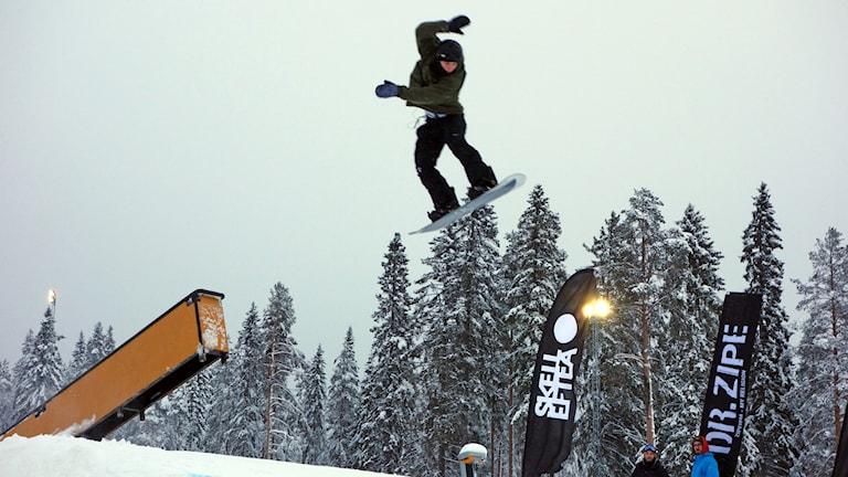 Snowboardåkare Vitbergsbacken.