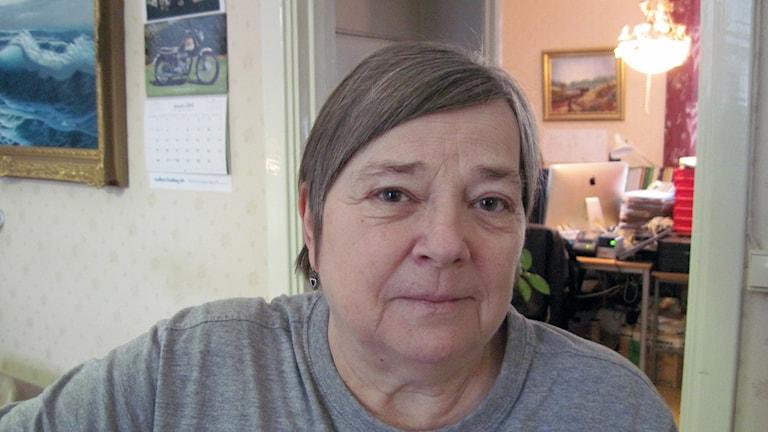 Eva Jacobsson i Hällnäs. Foto: Agneta Johansson/Sveriges Radio.