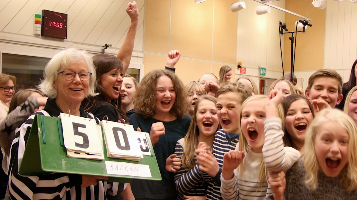 Backens skola vidare till tv-kval i Vi i femman. Foto: Helena Ramfjord/Sveriges Radio