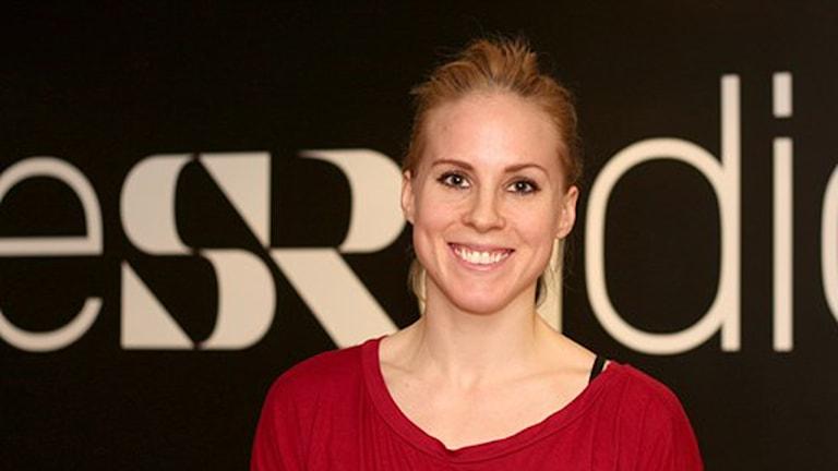 Agnes Nordström, lagkapten för Udominate. Foto: Helena Ramfjord/SR