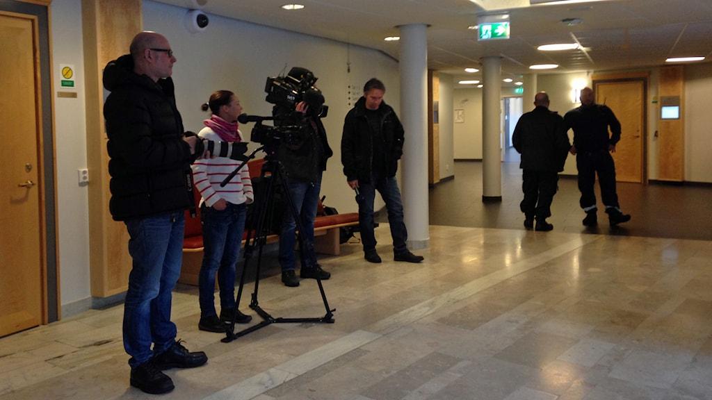 Interiör från Umeå tingsrätt. Foto: Anna Burén, Sveriges Radio.