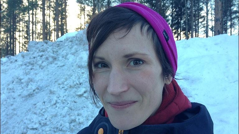Andrea Mannberg drogs med i lavin Kittelfjäll 2014.