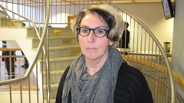 Carin Hasslow (Fp) ledamot i landstingsfullmäktige. Foto: Agneta Johansson/Sveriges Radio