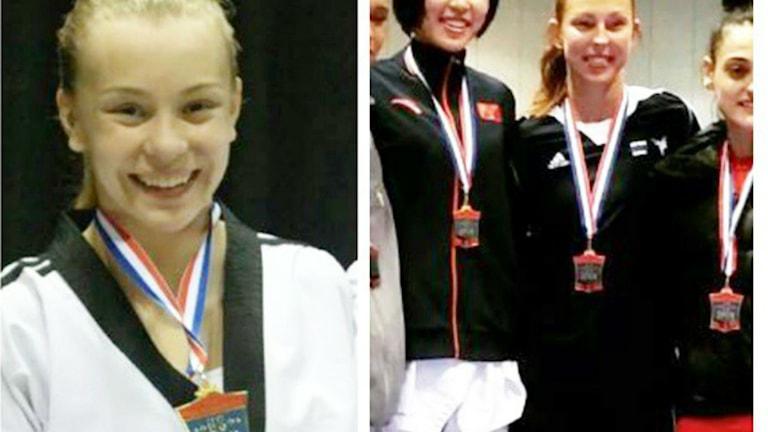 Thea Kling och Elin Johansson tog hem medaljer i US Open. Foto: Eva Hedlund