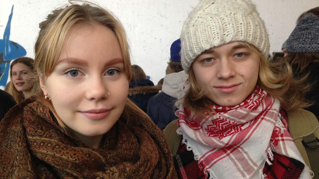 Hanna Antti och Alexandra Rydh, Foto:Anna Burén/SR.