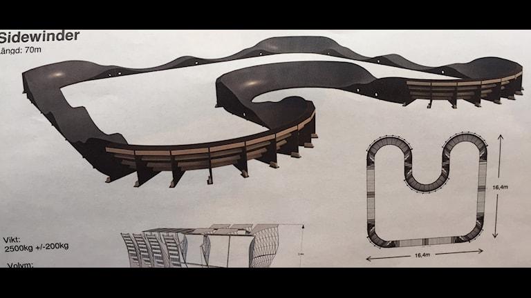 Planerad skate och cykelbana på Folkparken Skellefteå