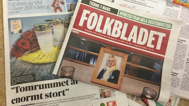 Elin Falk, Lycksele, Folkbladet. Foto: Erica Dahlgren/SR.