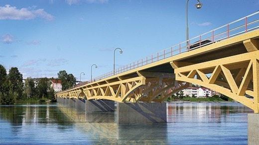 Den planerade centrumbron i Skellefteå