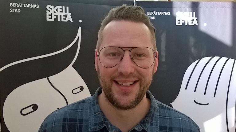 Mikke Ejrevi Enhetschef Stads och Campusbiblioteket Foto Åza Meijer