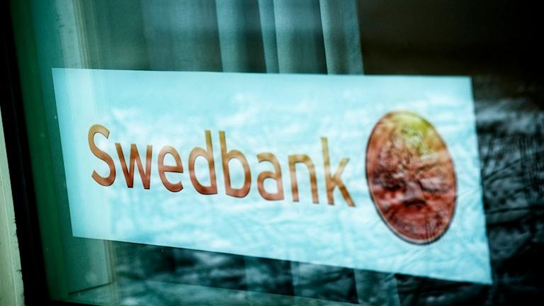 Swedbank-skylt. Foto: Markus Dahlberg/TT