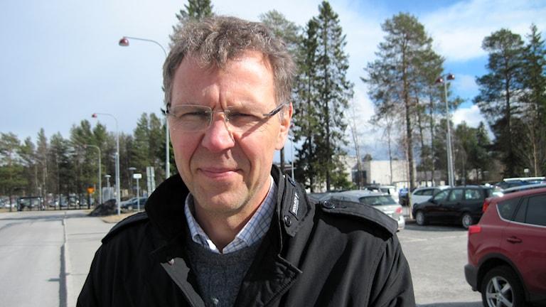 Ulf Widmark, fastighetschef i landstinget i Västerbotten. Foto: Agneta Johansson/Sveriges Radio.