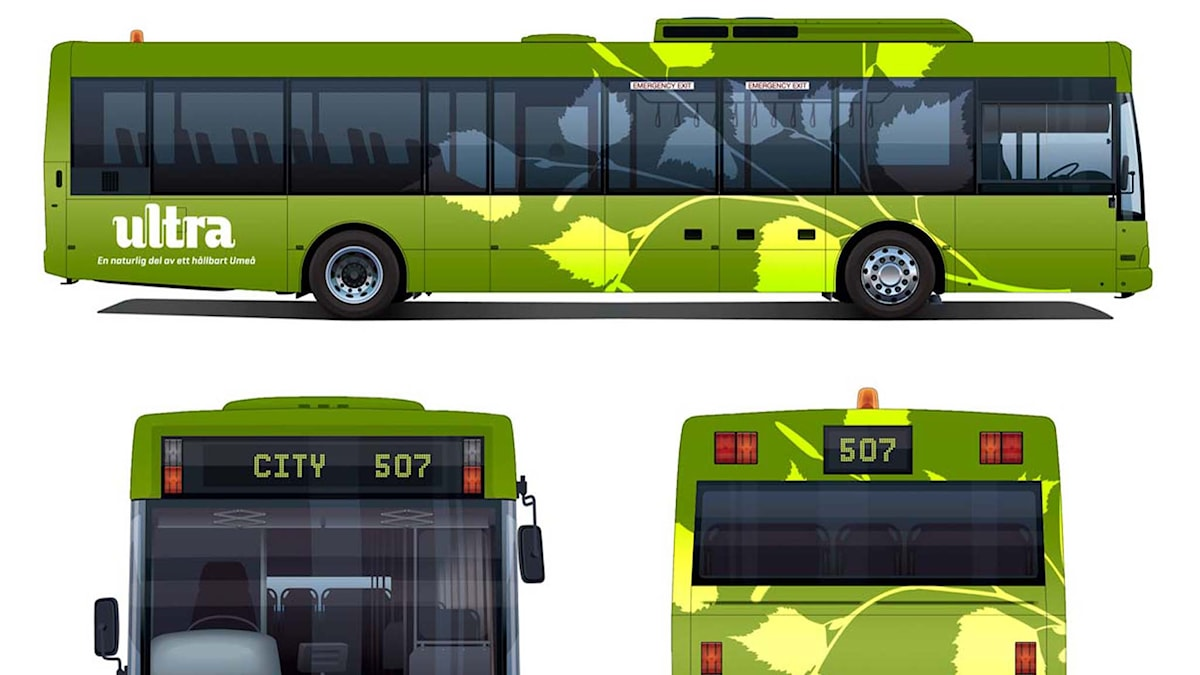 Ultras nya gröna bussar. Foto: Länstrafiken