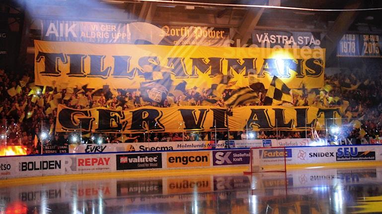 Skellefteå AIK:s supporterar North Power