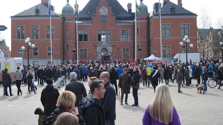 Rådhustorget i Umeå. Foto: Agneta Johansson/Sveriges Radio