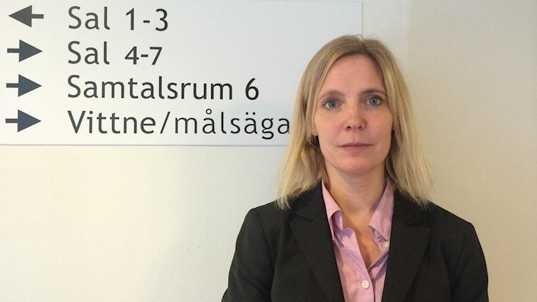 Stina Westman, kammaråklagare vid åklagarkammaren i Umeå. Foto: Lillemor Strömberg/Sveriges Radio.