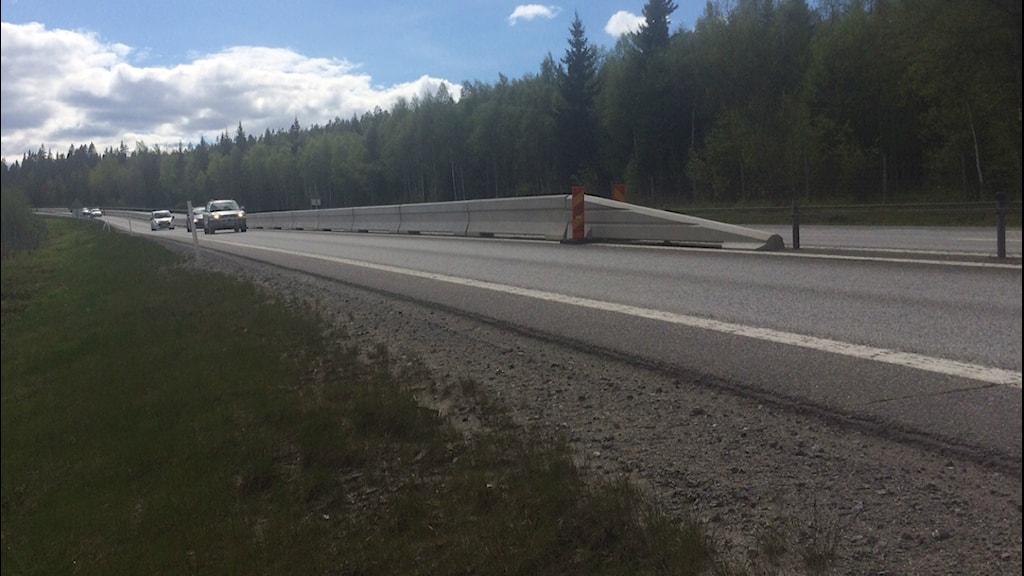 Betongräcket söder om Umeå. Foto: Anders Wikström/SR.