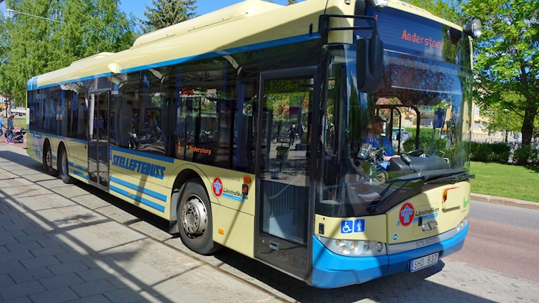 Skelleftebuss innerstadsbuss  foto Magnus Bergner/SR
