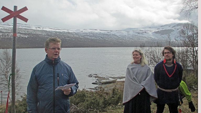 Lars Lustig Ann-Christin Vinka Isak Jonsson vid invigningen