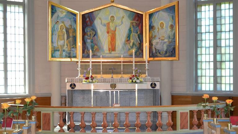 Altare, Kyrka, Bröllop, Dop, Begravning. Foto: Marilén Karlsson