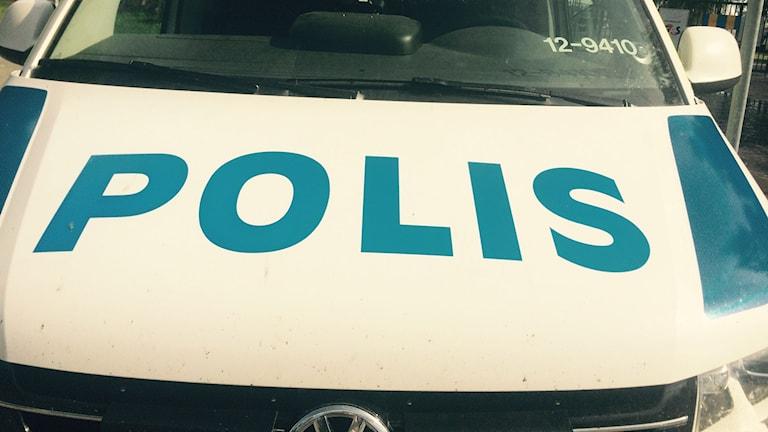 Polisbil. Foto Lennart Odhström/SR.