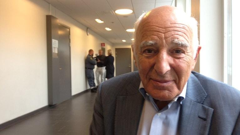 Leif Silbersky försvarsadvokat Foto: Erica Dahlgren/Sveriges Radio