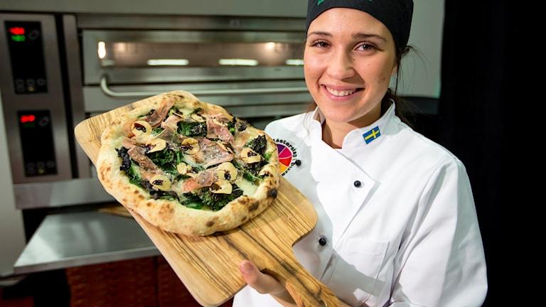 Simone Roosqvist vann Pizza-SM 2015. Foto: Pressbild